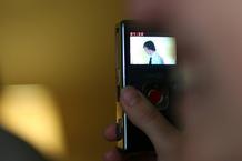 Closeup of Flip video camera
