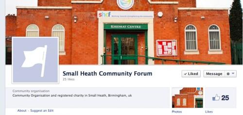 Small Heath Community Forum on facebook.